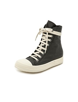 Ramones High Top Sneakers by Rick Owens Drkshdw