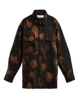 Bleached Cotton Overshirt by Marques'almeida