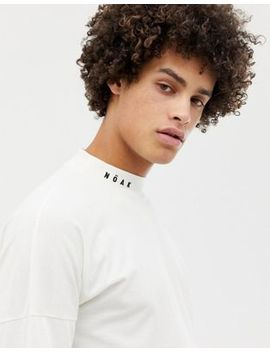 Noak Long Sleeve T Shirt With Mock Neck With Logo by Noak