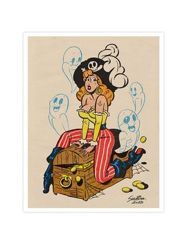 Pirate Print by Etsy