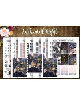 Enchanted Night | 2018 Big Happy Planner | Printable Planner Stickers | Planner Printables | Cut Files | Halloween | Printable Stickers by Etsy