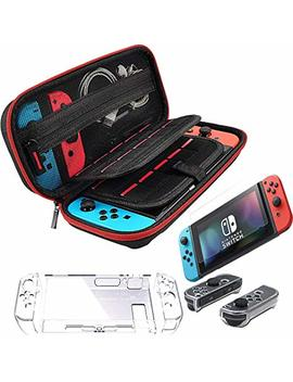 Accessories For Nintendo Switch Including Eva Portable Travel Carrying Case With 20 Game Card... by Huihong