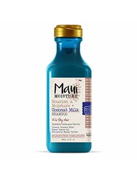 Maui Moisture Nourish & Moisture + Coconut Milk Shampoo, 13 Ounce, Lightweight For Daily Use Without Product Build Up, Sulfate Free Shampoo With Coconut... by Maui Moisture