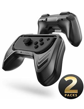 Mumba Grip Kit For Nintendo Switch Joy Con Controllers   Black (2 Packs) by Mumba