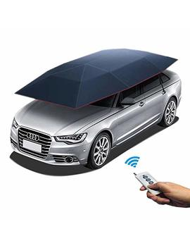 Reliancer Four Season Automatic Car Tent W/Remote Control Movable Carport Folded Portable Car Umbrella Sunshade Automobile Protection Canopy W/Anti Uv Water Proof Winter Anti Snow Frost Ice Guard by Reliancer