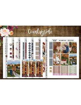 Countryside | 2017/18 Big Happy Planner | Printable Planner Stickers | Planner Printables | Fall | Autumn | Cut Files | Diy Stickers by Etsy