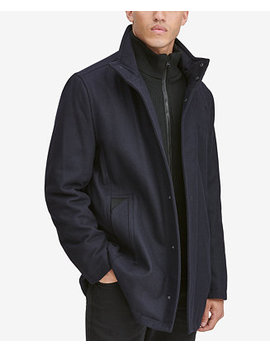 Men's Car Coat With Knit Inset by Marc New York
