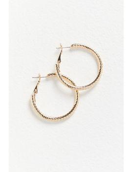 Alia Diamond Cut Hoop Earring by Urban Outfitters