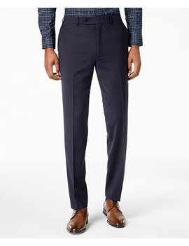 Men's Skinny Fit Infinite Stretch Navy Suit Pants by Calvin Klein