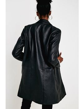 Uo Premium Leather Mac Jacket by Urban Outfitters