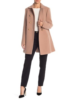 Double Breasted Wool Blend Coat by Kate Spade New York