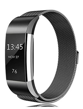 Tobfit For Fitbit Charge 2 Strap (2 Sizes), Milanese Mesh Magnetic Clasp Stainless Steel Replacement Strap For Fitbit Charge 2 by Tobfit