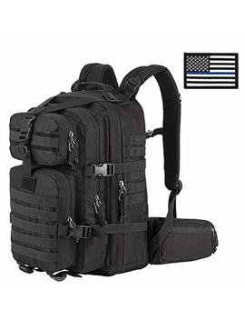 Sharkmouth Military Tactical Backpack 3 Day Small Assault Pack Molle Bug Out Bag Rucksack Survival Outdoor School Daypack For Camping Hiking Hunting Climbing Travel Trekking 33 L by Sharkmouth