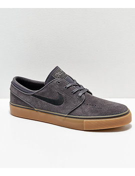 Nike Sb Janoski Suede Thunder Grey & Gum Skate Shoes by Nike Sb