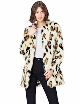 Find Women's Animal Print Faux Fur Coat by Find.