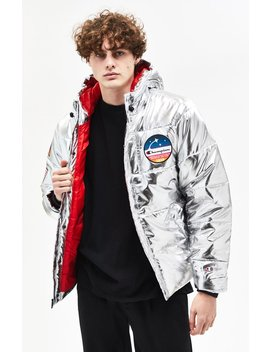 Champion Metallic Puffer Jacket by Pacsun