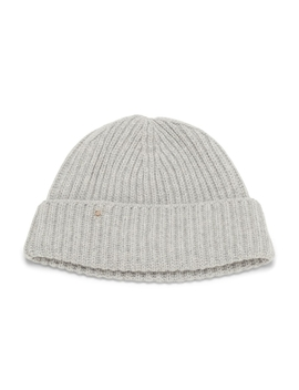 Wool Cashmere Ribbed Beanie by Cuyana