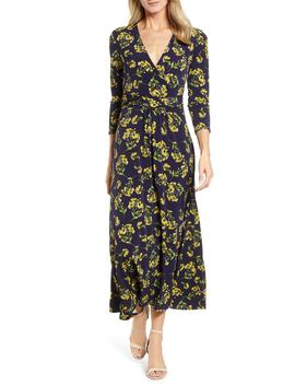 Chateau Bouquet Faux Wrap Dress by Chaus