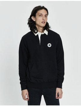 Kanga Pocket Rugby Shirt In Black by Aimé Leon Dore