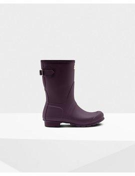 "<Span Itemprop=""Name"">Women's Original Short Back Adjustable Wellington Boots</Span>:                     <Span>Black Grape</Span> by Hunter"