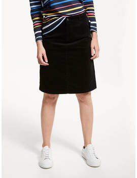 Collection Weekend By John Lewis Cord Skirt, Black by Collection Weekend By John Lewis