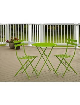 Cosco Outdoor Bistro Set, 3 Piece, Folding, Bright Green by Cosco