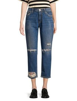 The Repaired Fling Distressed Crop Jeans by Current/Elliott