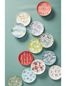 12 Days Of Christmas Set Of 12 Canapé Plates by Anthropologie