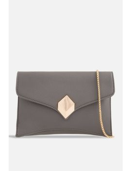 **Faux Leather Envelope Clutch By Koko Couture by Topshop