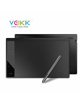 Graphics Drawing Tablet Veikk A30 10x6 Inch With 8192 Levels Battery Free Passive Pen For Left & Right Hand(Black) by Veikk
