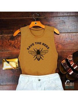 Bumble Bee   Save The Bees Festival Tank   Vegan Clothing   Honey Bee   Save The Bees   Vegan Shirt   Environment T Shirt   Tumblr Shirt by Etsy