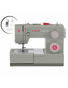Singer Heavy Duty 4452 Sewing Machine With Accessories, 32 Built In Stitches, 60 Percents Stronger Motor, Stainless Steel Bedplate, 48 Percents Faster Stitching Speed & Automatic Needle Threader by Singer