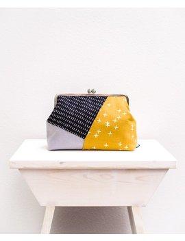 Geometric Handbag, Colorblock Clutch Purse, Metal Frame Clutch Bag, Modern Bag, Kisslock Clasp Purse, Minimal Evening Clutch, Gifts For Her by Etsy