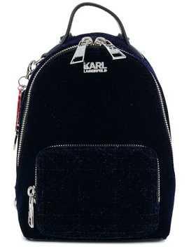 Karl X Kaia Velvet Mini Bpack by Karl Lagerfeld