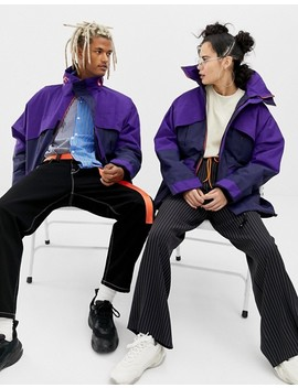 Collusion   Giacca Unisex Impermeabile Colour Block by Asos