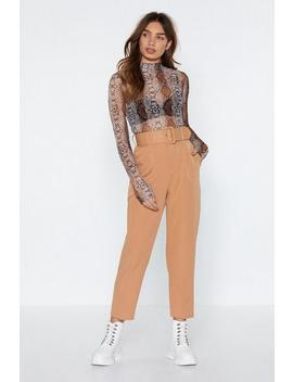 Hit Top Gear Belted Pants by Nasty Gal