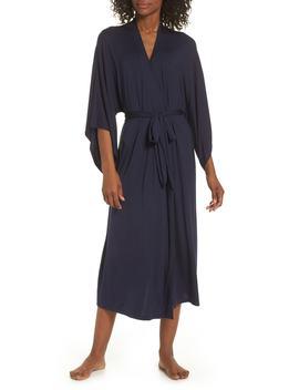 'colette' Kimono Sleeve Long Robe by Eberjey