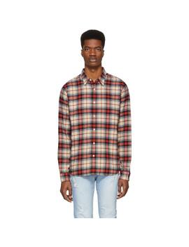 Multicolor Plaid No Pocket Shirt by Frame
