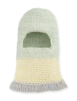 Balaclava Fitted Knit Hood Hat by Neiman Marcus