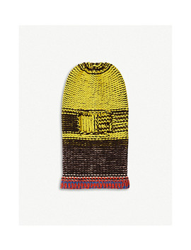 Stockinette Stitched Wool Balaclava by Calvin Klein 205 W39 Nyc