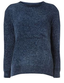 Dorothy Perkins   Navy Chenille Jumper by Dorothy Perkins