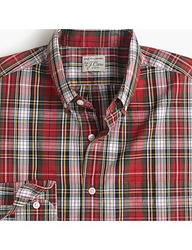 Slim Stretch Secret Wash Shirt In Magee Tartan by J.Crew