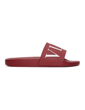 Red Valentino Garavani 'vltn' Slides by Valentino