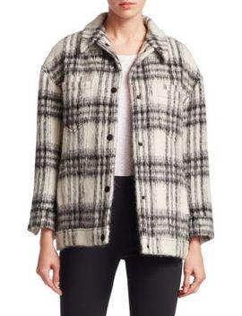 Julia Wool Blend Plaid Jacket by Cinq à Sept