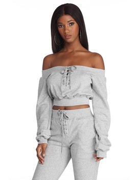 Comfy And Chill Crop Top by Windsor