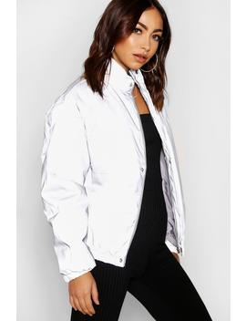Reflective Puffer Jacket by Boohoo