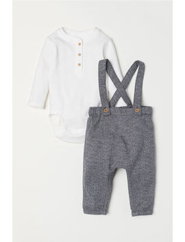 Henley Bodysuit And Trousers by H&M