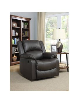 Warren Recliner Single Chair In Java Leather by Lifestyle Solutions