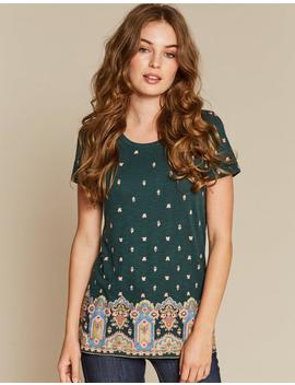 Opulent Paisley Border T Shirt by Fat Face