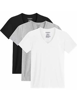 Indefini Men's V Neck Tees Undershirts Cotton Fitted Short Sleeve T Shirts In 1/3 Pack by Indefini